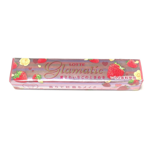 Glamatic Chewing Gum with Strawberry Taste from Lotte