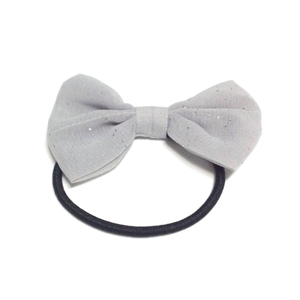 Glitter Bow Hairband in Grey from Paris Kid's