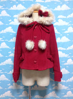 Heart-chan Coat with Hood in Red from Angelic Pretty