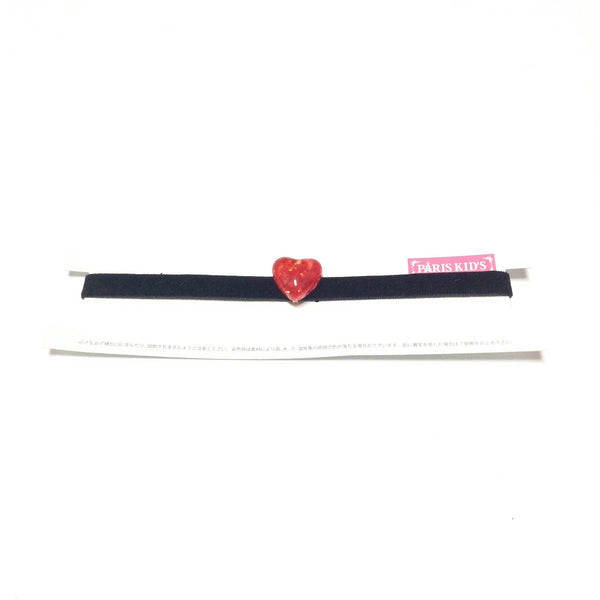 Heart Glitter Choker in Red x Black from Paris Kid's