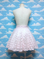 Heart Tulle Short Skirt in Pink from Bubbles