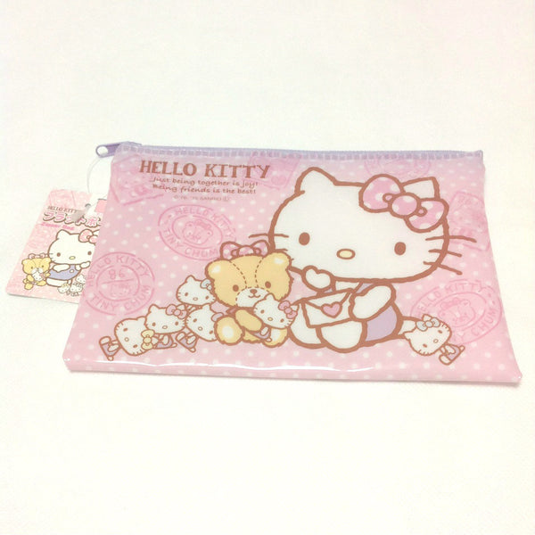 Hello Kitty Flat Pouch Zipper Bag in Pink from Sanrio