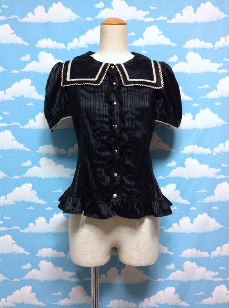 Holic Lady Blouse in Black from Angelic Pretty