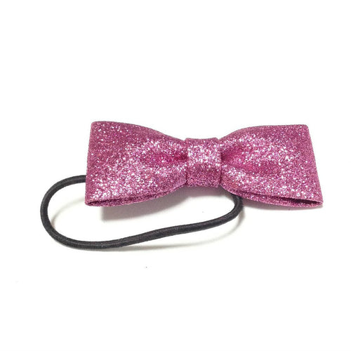 Mini Ribbon Hairtie (Sugar) in Cherry Pink from 6%DOKIDOKI