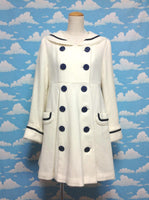 Girly Sailor Coat in White from Angelic Pretty