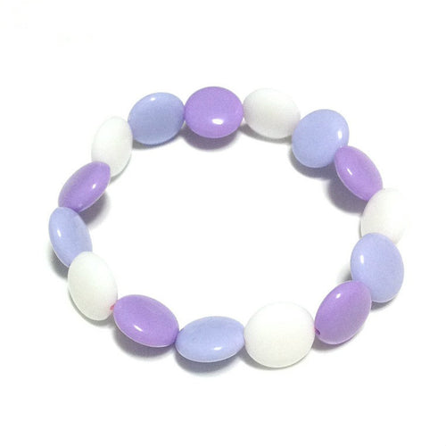 Polka Dot Bracelet in Mix (White x Lavender x Purple) from Pastel Skies