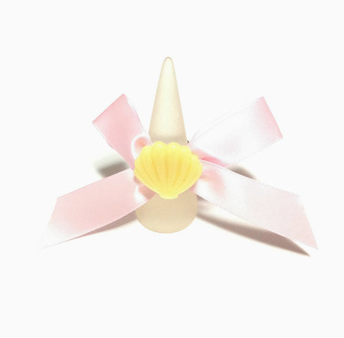 Kira Kira Sea Shell Ribbon Ring in Yellow from Pastel Skies