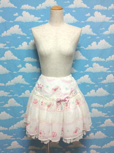 Whip Show Case Skirt in White from Angelic Pretty
