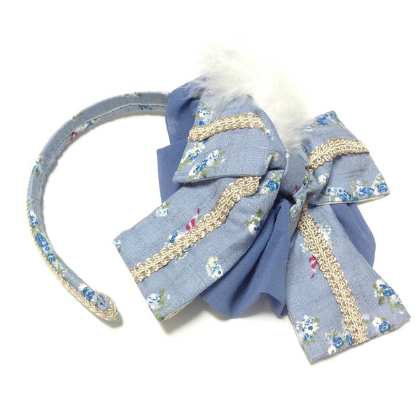 Frame Swan Vaned Alice Band in Blue from Metamorphose Temps de Fille
