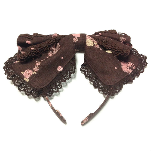 Chocolate Fascinate Fairytale Ribbon Head Bow in Milk Chocolate (Brown) from Baby, the Stars Shine Bright