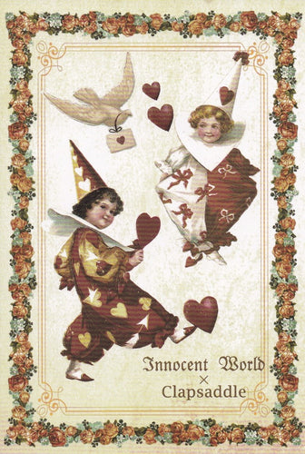 Pierrot, Hearts and Doves Postcard from Innocent World x Clapsaddle