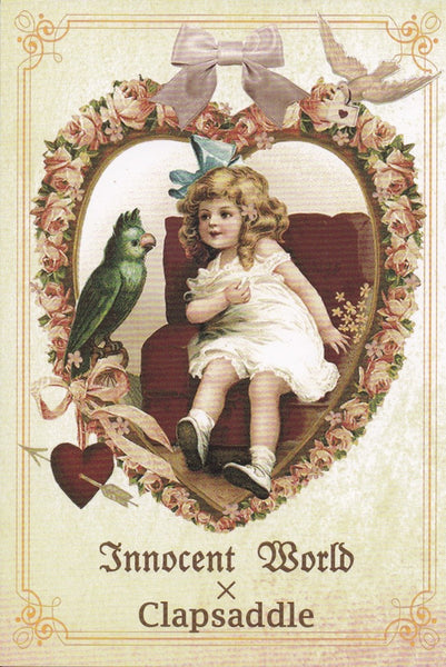 Big Heart, Small Girl Postcard from Innocent World x Clapsaddle