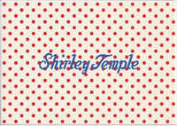 Retro Polka Dot Postcard from Shirley Temple