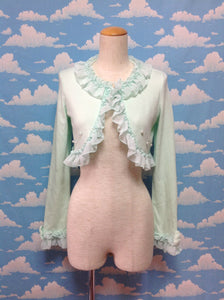 Kanaria (Canary) Chiffon Frill Bolero in Mint from Angelic Pretty