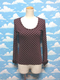 Chiffon Bow Heart Dot Cutsew in Brown from Emily Temple Cute