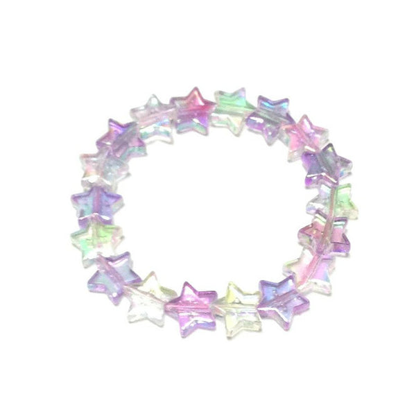 Star Shower Bracelet in Lavender x White from Pastel Skies