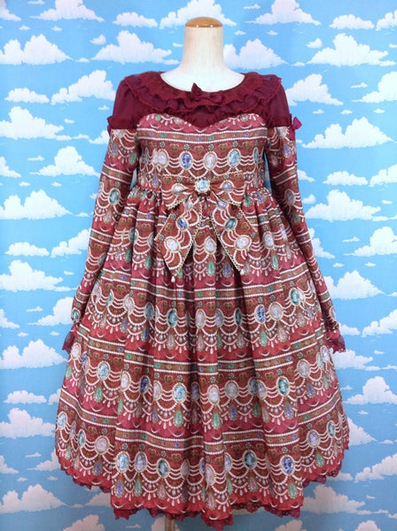 Dreamy Jewel OP (One Piece) in Wine from Angelic Pretty