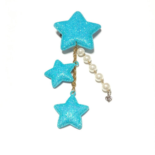Glitter Star 2-Way Clip in Baby Aqua from 6%DOKIDOKI