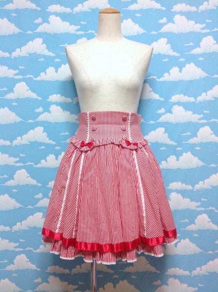 Pure Memory Skirt in Red from Angelic Pretty