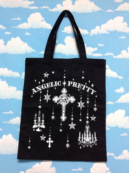 Holy Lantern Tote Bag in Black x White from Angelic Pretty (C condition)