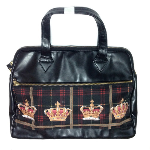 Royal Crown Boston Bag in Black from Alice and the Pirates