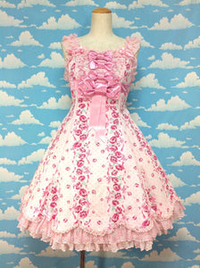 Lady Rose Back Frill JSK in Pink from Angelic Pretty