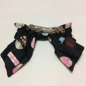 Polka Dot Chocolate Barrette in Black from Angelic Pretty
