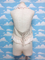 Chain Lace Vest in Beige from Axes Femme (C)