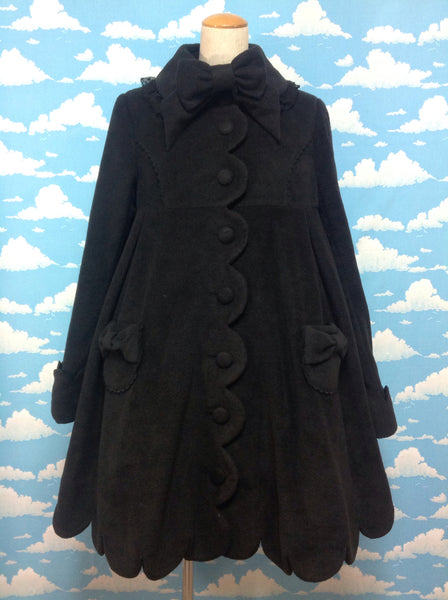 Milky Dream Coat in Black from Angelic Pretty