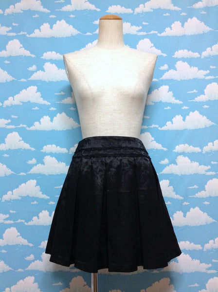 Floral Pattern Skirt in Black
