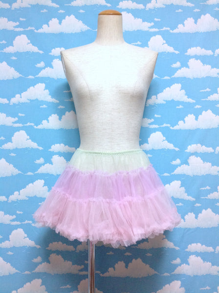 Triple Tulle Mini Pannier in Mint x Lavender x Pink from Bodyline