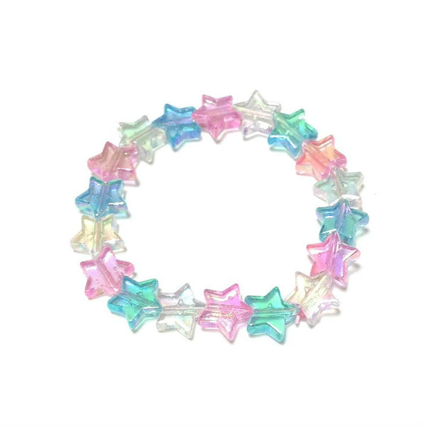 Star Shower Bracelet in Mix (Pink x Sax x White) from Pastel Skies
