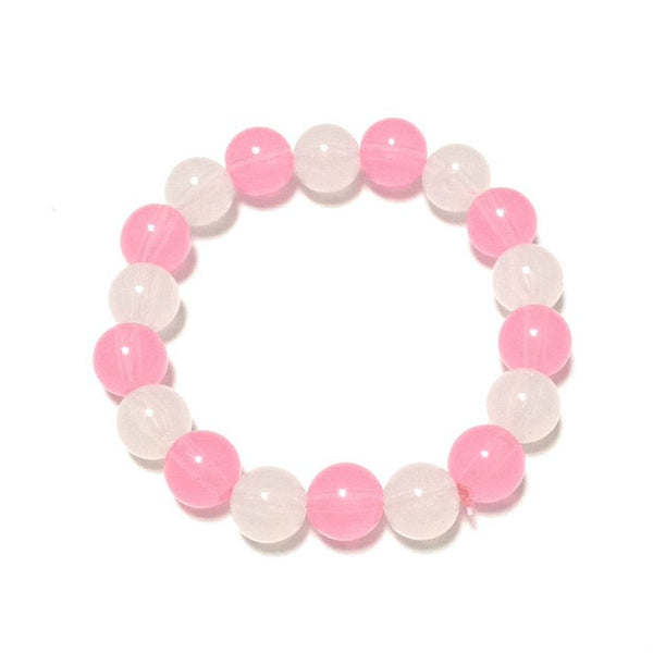 Candy Pearl Bracelet in Pink x White from Pastel Skies
