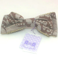 Whip Jacquard Ribbon Barrette in Brown from Angelic Pretty