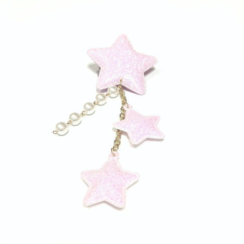 Glitter Milky 2-way Star Clip in Lavender from Chocomint