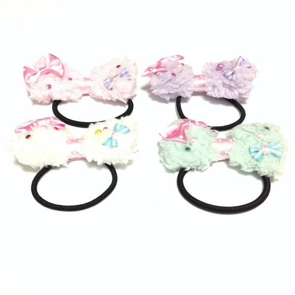 Fluffy Mini Ribbon Hair Band (Several colors) from Chocomint