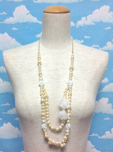 Fairina Rose Necklace in Cream from Baby, the Stars Shine Bright