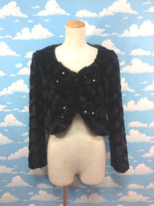 Ribbon Fur Jacket in Black from Alice and the Pirates