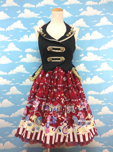 Fantasy Theater Gilet JSK in Red from Angelic Pretty