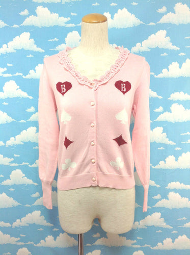 Card Pattern Cardigan in Pink from Baby, the Stars Shine Bright
