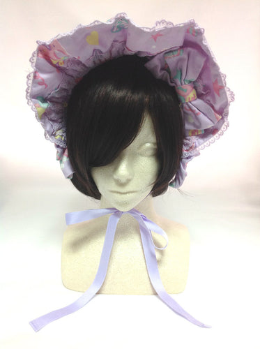 Toy Parade Half Bonnet (2012) in Lavender from Angelic Pretty