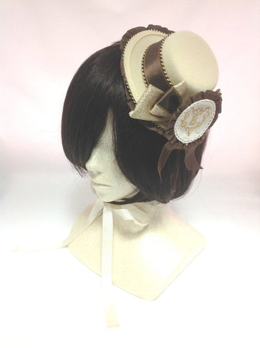 Wonderland Mini Hat in Ivory x Brown from Baby, the Stars Shine Bright