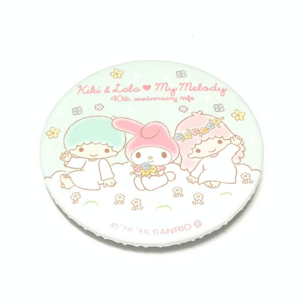 Kiki & Lala ♥ My Melody 40th Anniversary Cafe Badge from Sanrio