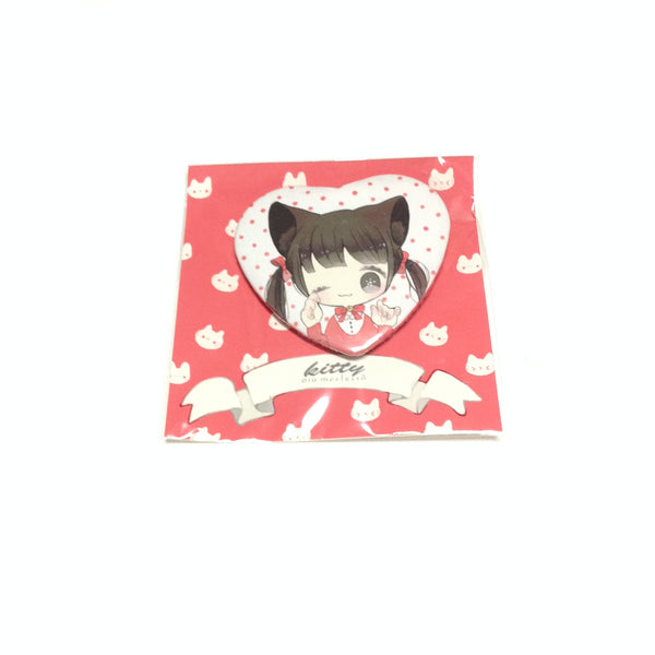 Kitty Heart Badge from Piu Merletto
