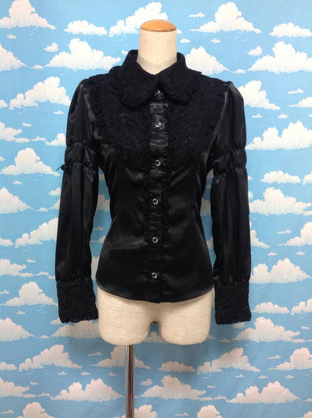 Lace Collar Blouse in Black from Alice and the Pirates