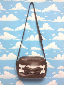Ladder Ribbon Square Shoulder Bag in Brown from Angelic Pretty