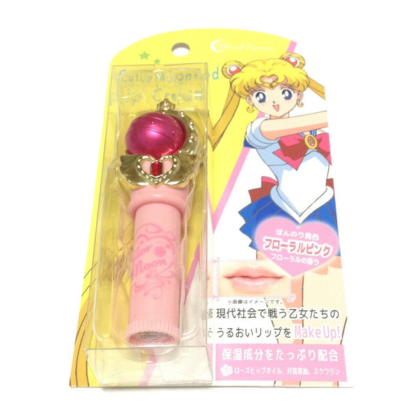 Sailor Moon 25th Anniversary Miracle Romance Cutie Moon Rod Lip Cream in Floral Pink from Creer Beaute