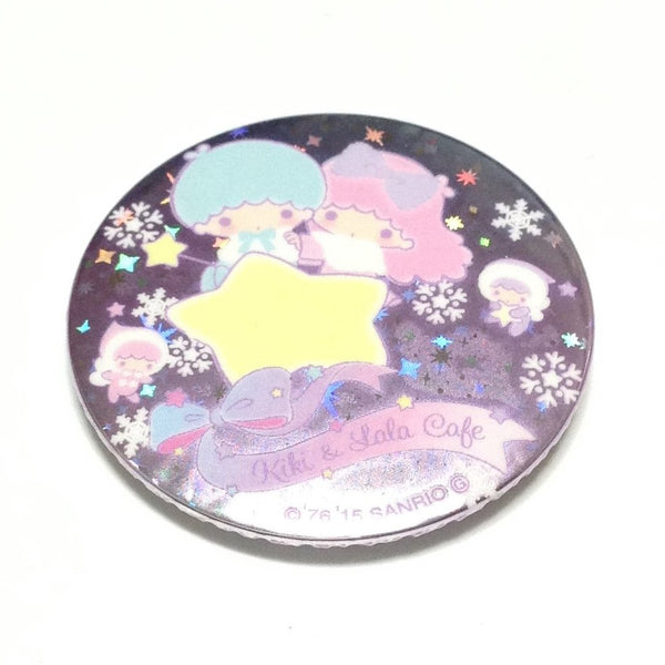 Little Twin Stars Behind a Star Kiki & Lala Cafe Tin Badge from Sanrio