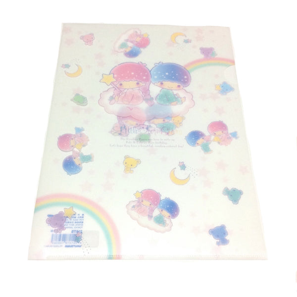 Little Twin Stars Clearfile (Rainbow Bears) from Sanrio