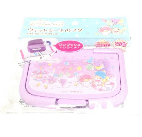 Little Twin Stars One Touch Wipe Lid from Sanrio